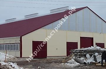 Башкортостан, строительство коровника на 400 голов с ДМБ