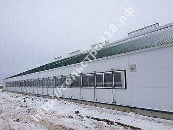 Строительство МТФ на 526 голов с ДМБ и доильным залом Ёлочка 2х14_12